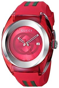 Gucci Gucci YA137103 Sync XXL Red Rubber Red Dial Unisex Watch