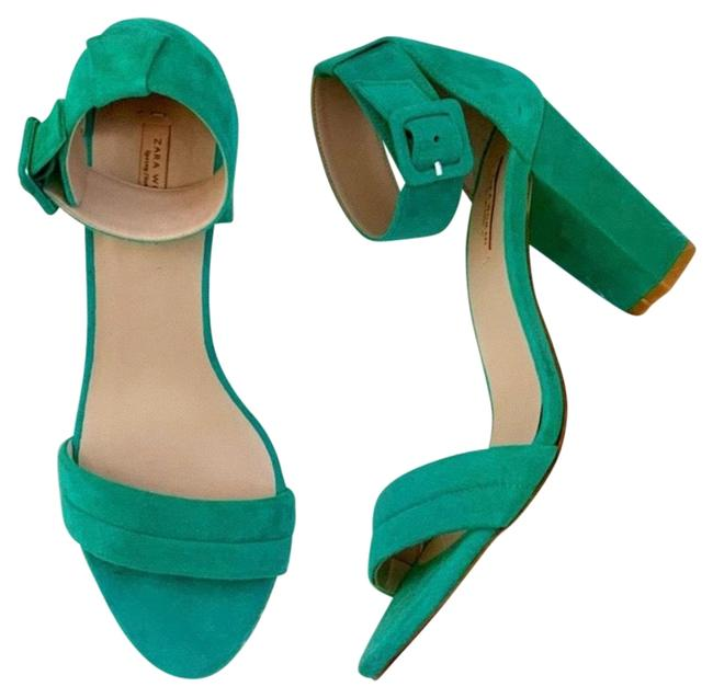 Zara Green Sandals Size EU 38 (Approx. US 8) Regular (M, B) Zara Green Sandals Size EU 38 (Approx. US 8) Regular (M, B) Image 1