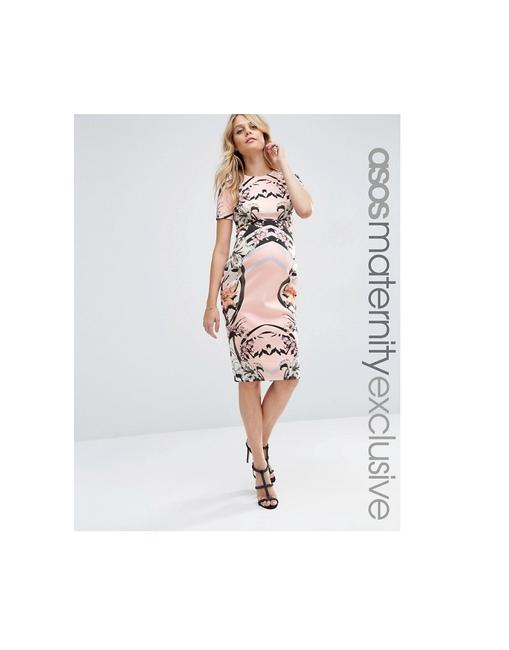Item - Multicolor Scuba Pencil Maternity Dress Size 8 (M, 29)