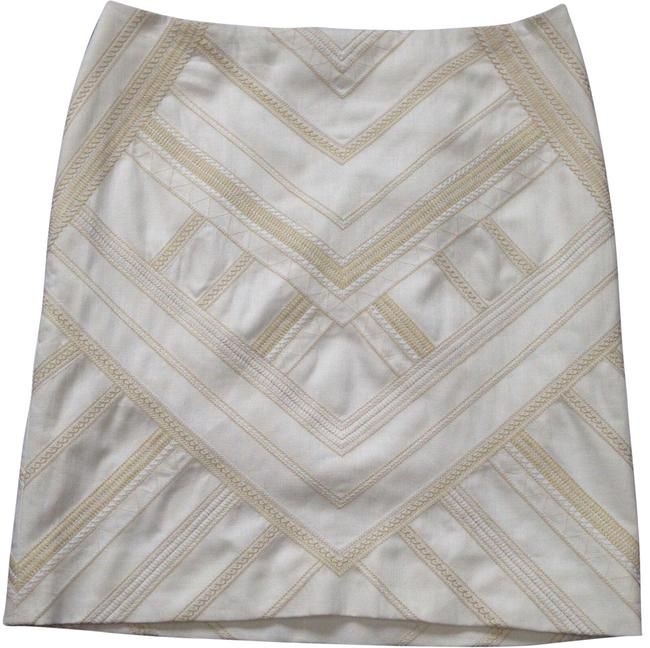 Item - and Sand Geo Embroidered Pencil Skirt Size 14 (L, 34)
