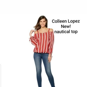Colleen Lopez Top Red white