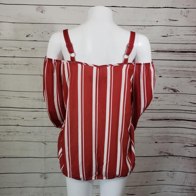 Colleen Lopez Top Red white Image 2