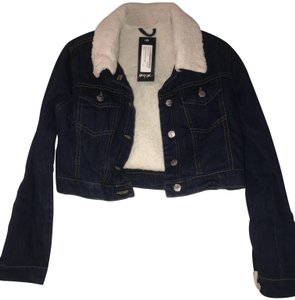 Nasty Gal Cropped Faux Shearling Spring Jean Womens Jean Jacket