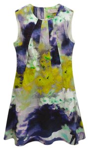 Lela Rose #watercolorprint #abstractprint #cotton #spring #sleeveless Dress