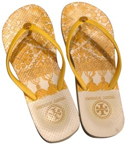91f38b788729 Yellow Tory Burch Sandals - Up to 90% off at Tradesy