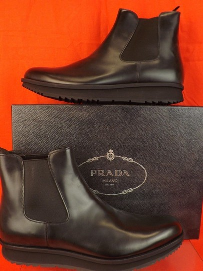 Preload https://img-static.tradesy.com/item/25138195/prada-black-mens-chelsea-leather-elasticized-ankle-boots-9-us-10-shoes-0-0-540-540.jpg