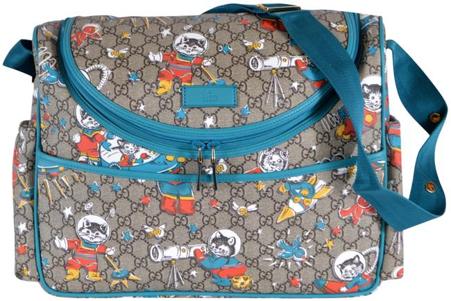 Item - Space Cats Multicolor Coated Canvas Diaper Bag