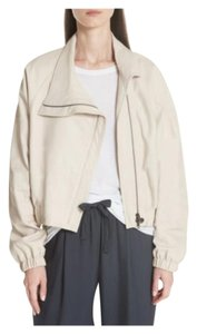 Vince Lamb Lamb Slouchy Relaxed Leather Jacket