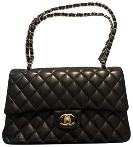 09be015d6edd Added to Shopping Bag. Chanel Shoulder Bag. Chanel Classic Flap Black  Lambskin Leather ...