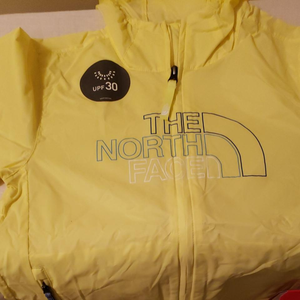 27285e1a0 The North Face Yellow Kids Flurry Wind Hoodie Jacket Size OS (one ...