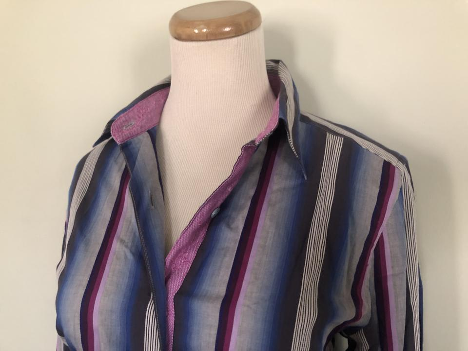 8919f1c6391 Robert Graham Purple Striped Dress Shirt Button-down Top Size 4 (S) -  Tradesy