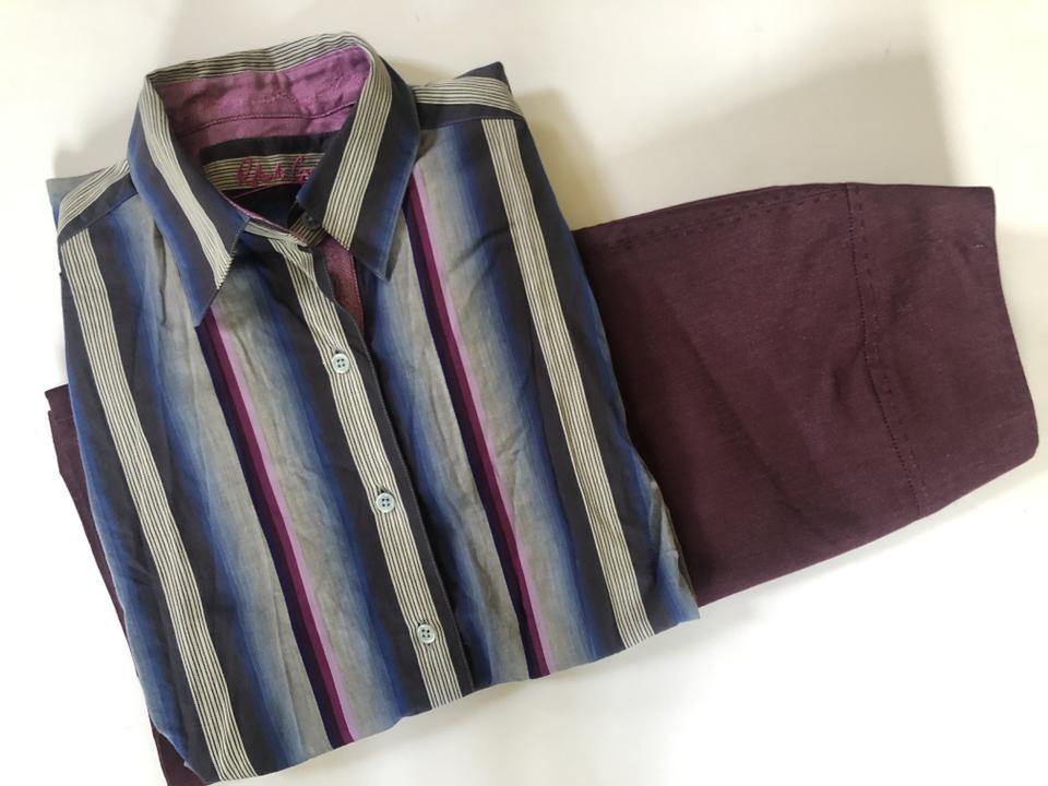 f127fa6ab81 Robert Graham Purple Striped Dress Shirt Button-down Top Size 4 (S ...