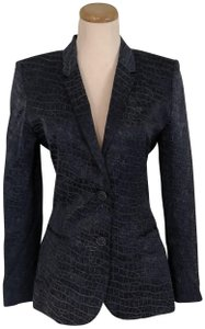 Barbara Bui Two-tone Navy Cotton Lined Blue Blazer