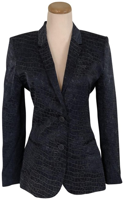 Barbara Bui Two-tone Navy Cotton Lined Blue Blazer Image 0