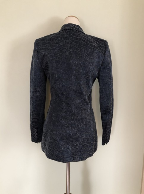 Barbara Bui Two-tone Navy Cotton Lined Blue Blazer Image 1