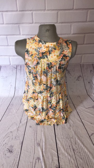 Anthropologie Top Yellow and green Image 4