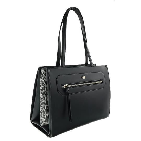 Preload https://img-static.tradesy.com/item/25139032/roberto-cavalli-class-shopping-black-calf-leather-and-synthetic-leather-tote-0-0-540-540.jpg