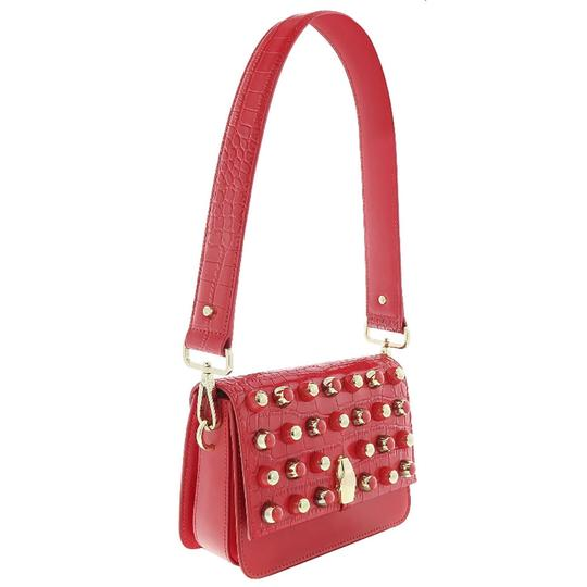 Preload https://img-static.tradesy.com/item/25139069/roberto-cavalli-class-medium-red-calf-leather-and-synthetic-leather-shoulder-bag-0-0-540-540.jpg