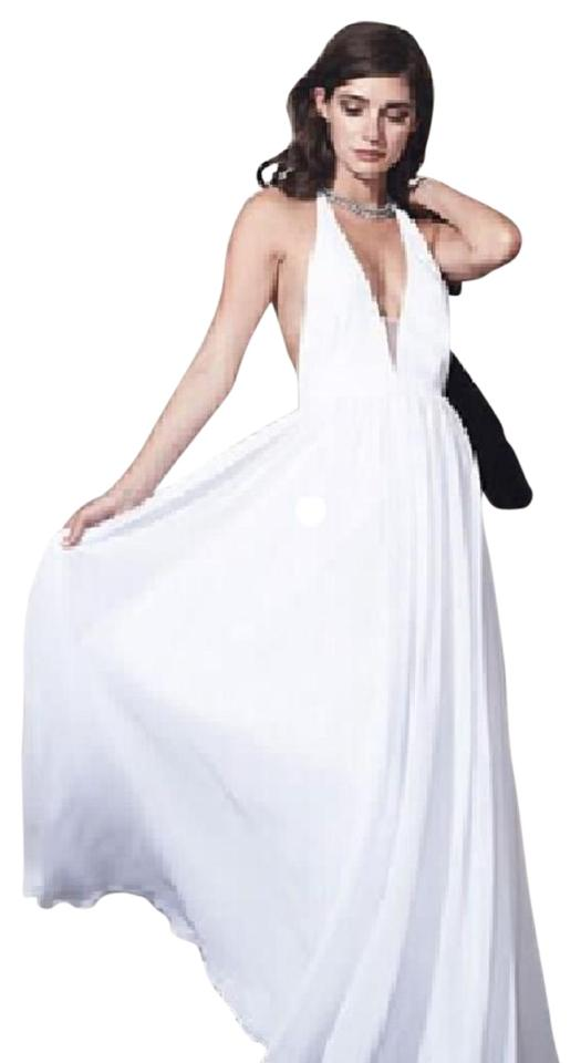 281cedc9a87c1 Fame and Partners White 1000258324 Mid-length Formal Dress Size 4 (S ...