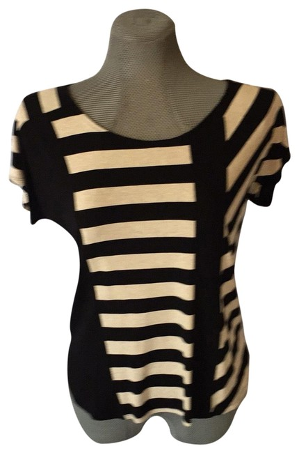 Item - Tan and Black Blouse Size 4 (S)