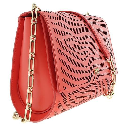 Preload https://img-static.tradesy.com/item/25139163/roberto-cavalli-class-small-coral-calf-leather-and-synthetic-leather-shoulder-bag-0-0-540-540.jpg