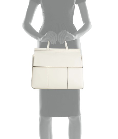 Tory Burch Block T Top Handle Satchel in white Image 2