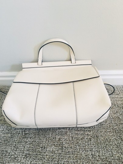 Tory Burch Block T Top Handle Satchel in white Image 5