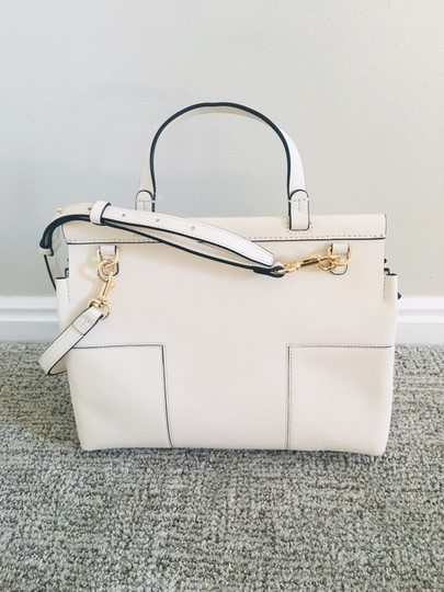 Tory Burch Block T Top Handle Satchel in white Image 6