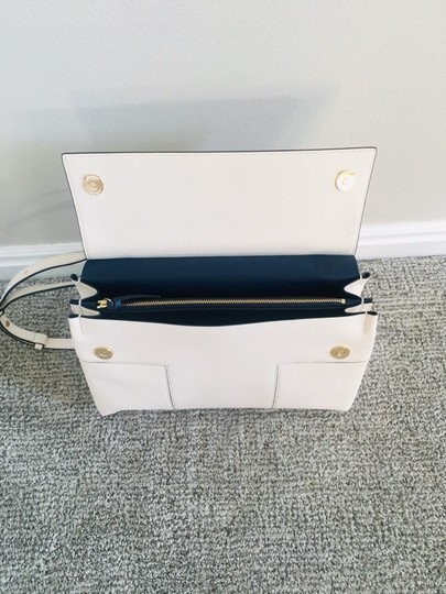 Tory Burch Block T Top Handle Satchel in white Image 7