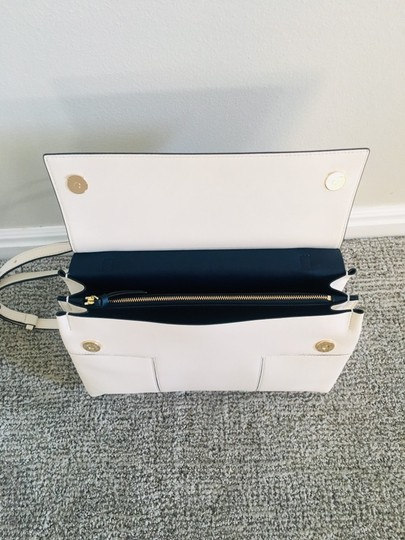 Tory Burch Block T Top Handle Satchel in white Image 8