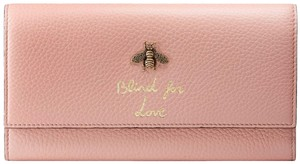 353ac126c8d7 Gucci Pink Animalier New Continental Bee Wallet - Tradesy