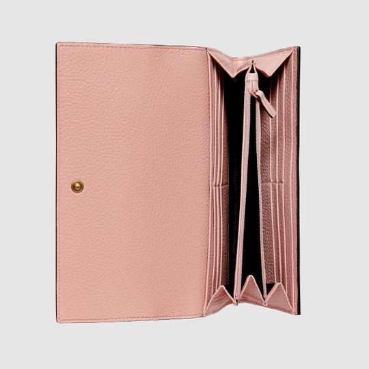 Gucci New Gucci Continental Animalier Bee Pink Wallet Image 1