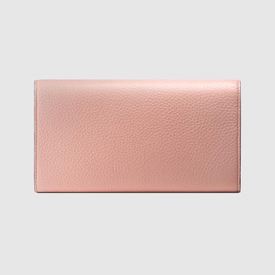 Gucci New Gucci Continental Animalier Bee Pink Wallet Image 2