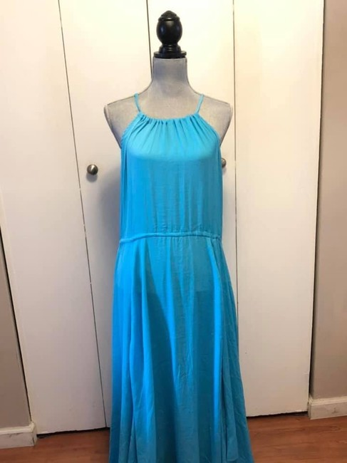Blue Maxi Dress by Moon & Meadow Image 2