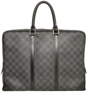 4d0dc9bd0282 Louis Vuitton Porte Documents Voyage Business N41125 Black Damier ...