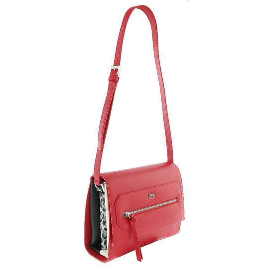 Preload https://img-static.tradesy.com/item/25139370/roberto-cavalli-class-medium-red-calf-leather-and-synthetic-leather-shoulder-bag-0-0-540-540.jpg
