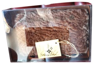 Patricia Nash Designs In Box Brown Sherpa and Honey Leather Clutch