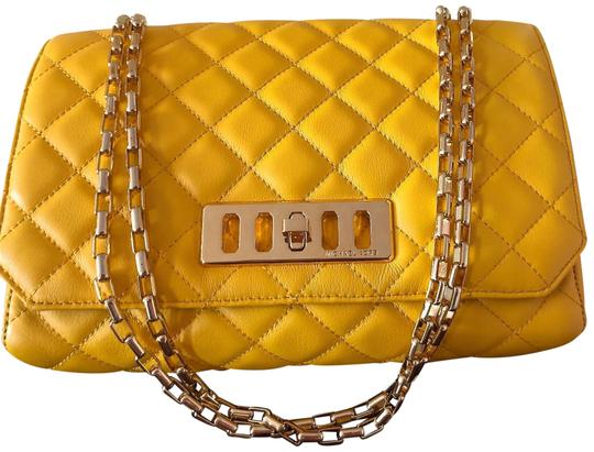Preload https://img-static.tradesy.com/item/25139475/michael-kors-collection-vivian-quilted-daffodil-yellow-soft-leather-shoulder-bag-0-1-540-540.jpg