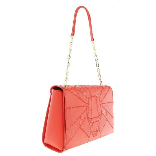 Preload https://img-static.tradesy.com/item/25139523/roberto-cavalli-class-medium-coral-calf-leather-and-synthetic-leather-shoulder-bag-0-0-540-540.jpg