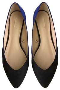 Zara Black Blue Flats