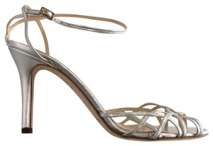 Kate Spade Strappy Pumps Silver Leather Sandals