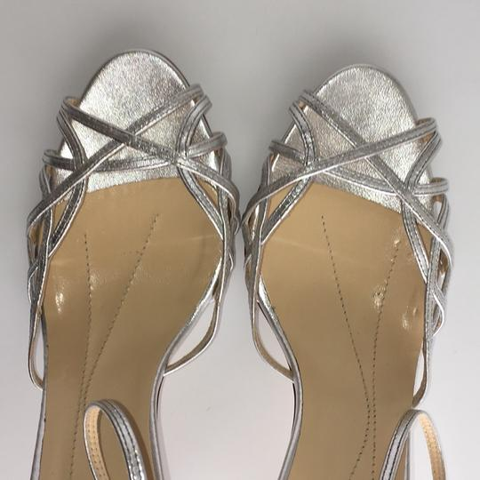 Kate Spade Strappy Pumps Silver Leather Sandals Image 2