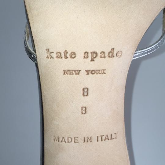 Kate Spade Strappy Pumps Silver Leather Sandals Image 3