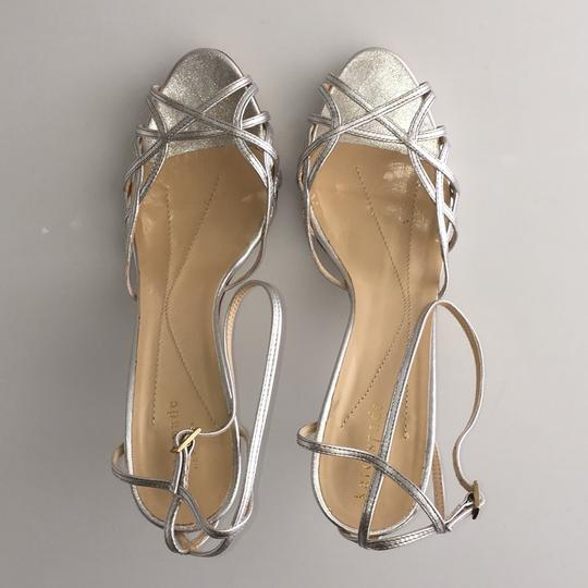 Kate Spade Strappy Pumps Silver Leather Sandals Image 4
