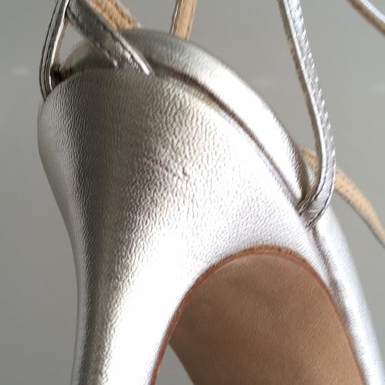 Kate Spade Strappy Pumps Silver Leather Sandals Image 7