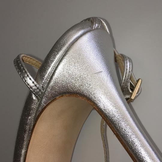 Kate Spade Strappy Pumps Silver Leather Sandals Image 9