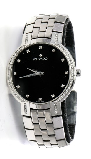 Preload https://img-static.tradesy.com/item/25139586/movado-stainless-steel-faceto-diamonds-watch-0-0-540-540.jpg