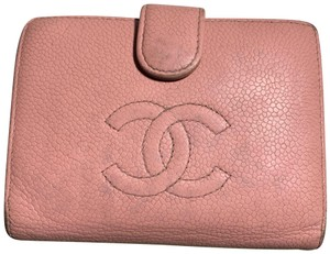 Chanel Pebble Pink Wallet