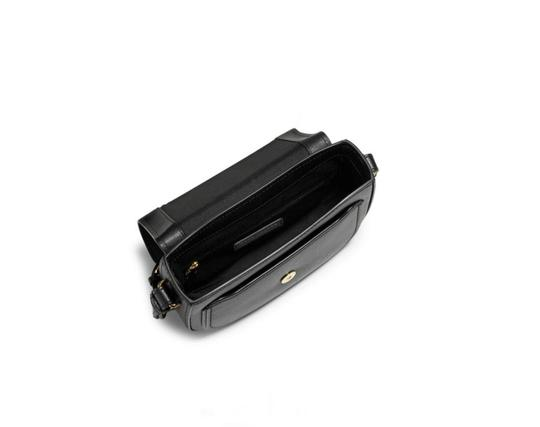 Marc Jacobs Magnetic Closure Slip Pockets Mini Rider Leather Luggage Tag Cross Body Bag Image 1