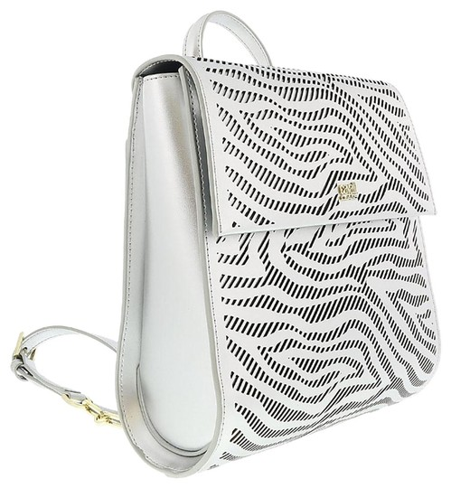 Preload https://img-static.tradesy.com/item/25139688/roberto-cavalli-silver-calf-leather-and-synthetic-leather-backpack-0-1-540-540.jpg